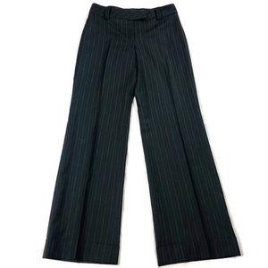 Ann Taylor Loft Striped Wide Leg Dress Pants Sz 4